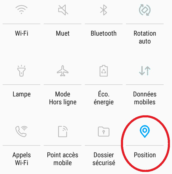 Screenshot Localisation phone
