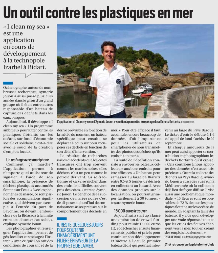 Article La République des Pyrénées septembre 2019
